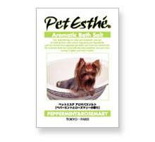 Pet Esthé Aromatic Bath Salt Pfefferminz- und Rosmarinduft
